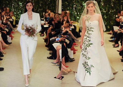 Коллекция свадебных платьев Carolina Herrera весна 2016